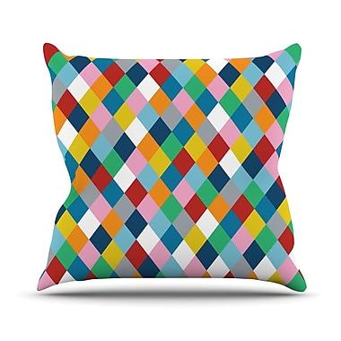 KESS InHouse Harlequin Zoom Throw Pillow; 18'' H x 18'' W