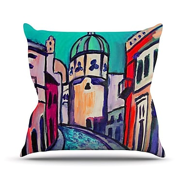 KESS InHouse Procida Teal Throw Pillow; 26'' H x 26'' W
