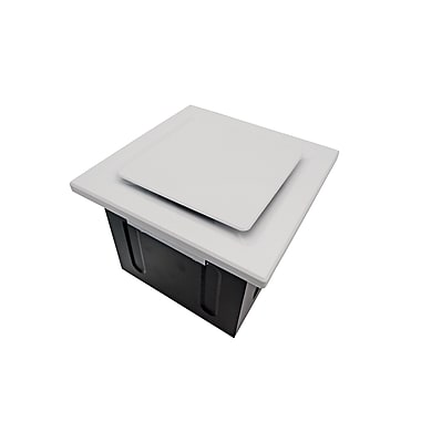 Aero Pure Super Quiet 80 CFM Bathroom Ventilation Fan; White