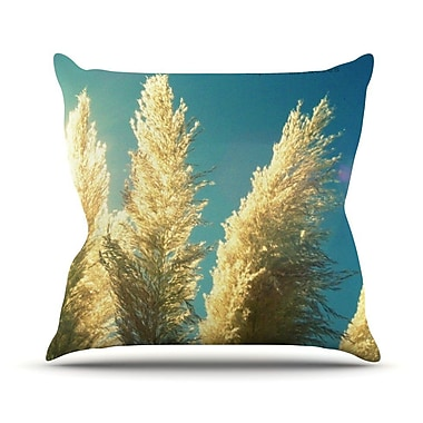 KESS InHouse Ornamental Grass Throw Pillow; 18'' H x 18'' W