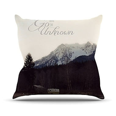 KESS InHouse Go into The Unknown Throw Pillow; 16'' H x 16'' W