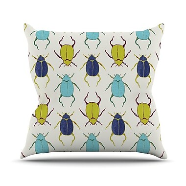 KESS InHouse Beetles Throw Pillow; 26'' H x 26'' W