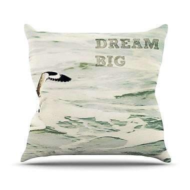 KESS InHouse Dream Big Throw Pillow; 18'' H x 18'' W