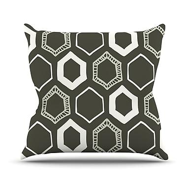 KESS InHouse Hexy Throw Pillow; 16'' H x 16'' W