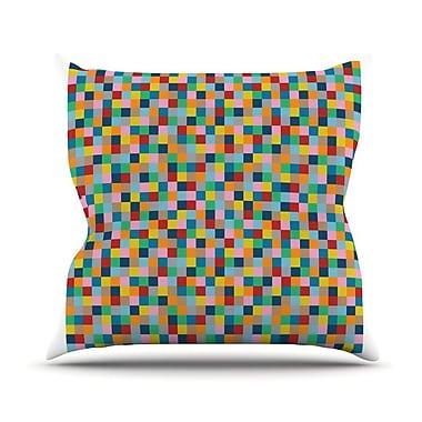KESS InHouse Colour Blocks Throw Pillow; 20'' H x 20'' W