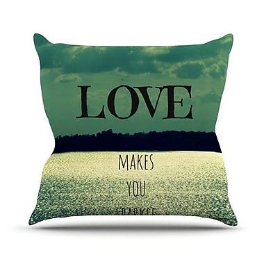 KESS InHouse Love Makes You Sparkle by Robin Dickinson Throw Pillow; 18'' H x 18'' W x 3'' D