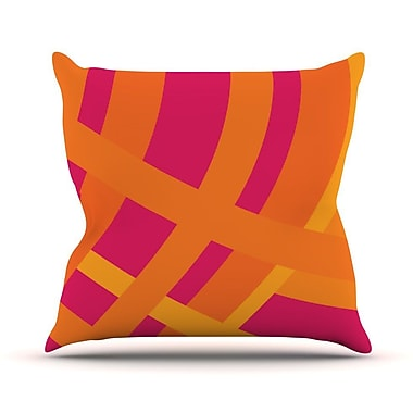 KESS InHouse Tangled by Fotios Pavlopoulos Throw Pillow; 18'' H x 18'' W x 1'' D