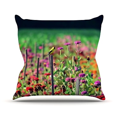 KESS InHouse Live in The Sunshine Throw Pillow; 16'' H x 16'' W