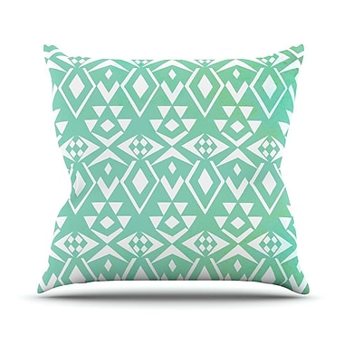 KESS InHouse Ancient Tribe by Pom Graphic Seafoam Throw Pillow; 16'' H x 16'' W x 3'' D