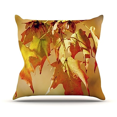 KESS InHouse Autumn Leaves by Angie Turner Vibrant Throw Pillow; 26'' H x 26'' W x 1'' D