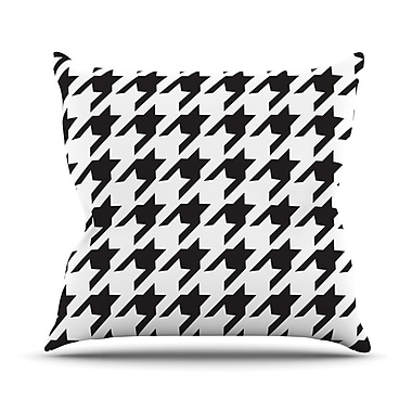 KESS InHouse Spacey Houndstooth by Empire Ruhl Throw Pillow; 16'' H x 16'' W x 1'' D
