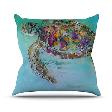 KESS InHouse Mommy by Josh Serafin Turtle Throw Pillow; 26'' H x 26'' W x 5'' D