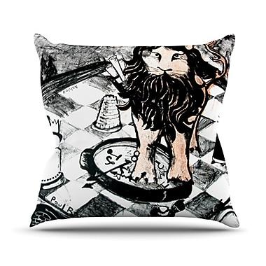 KESS InHouse King Leo Throw Pillow; 26'' H x 26'' W