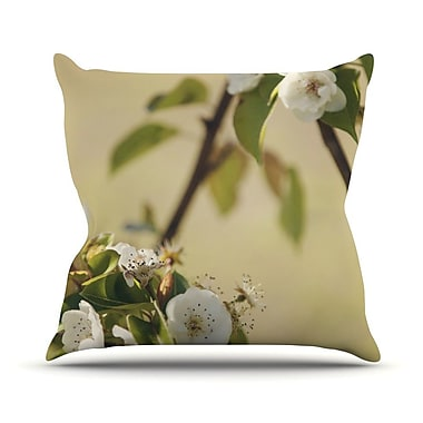 KESS InHouse Pear Blossom by Catherine McDonald Throw Pillow; 16'' H x 16'' W x 1'' D