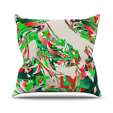 KESS InHouse Italy by Danny Ivan World Cup Throw Pillow; 20'' H x 20'' W x 1'' D
