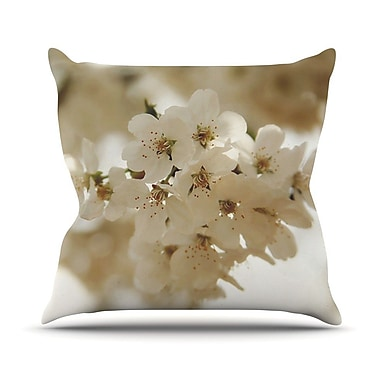 KESS InHouse Flowering Pear by Angie Turner Petals Throw Pillow; 18'' H x 18'' W x 1'' D