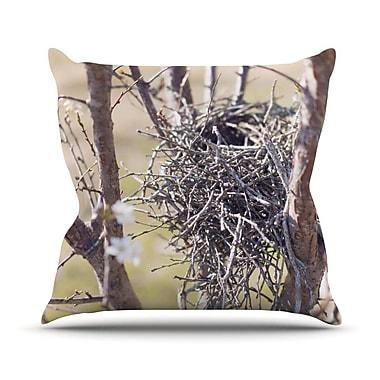 KESS InHouse Nest by Catherine McDonald Throw Pillow; 18'' H x 18'' W x 1'' D