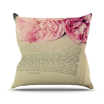 KESS InHouse A Good Read by Cristina Mitchell Throw Pillow; 26'' H x 26'' W x 1'' D