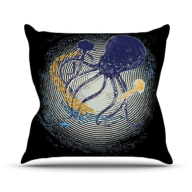KESS InHouse Tentacular Trap by Frederic Levy-Hadida Octopus Throw Pillow; 20'' H x 20'' W x 1'' D