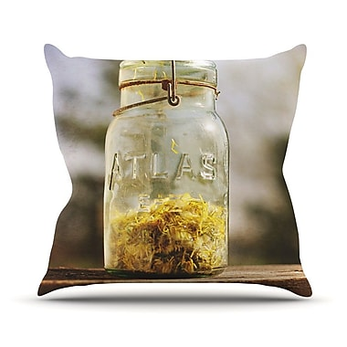 KESS InHouse Jar of Sunshine by Angie Turner Country Throw Pillow; 16'' H x 16'' W x 1'' D