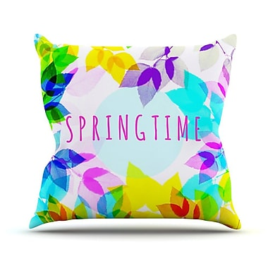 KESS InHouse Seasons Springtime by Sreetama Ray Rainbow Leaves Throw Pillow; 16'' H x 16'' W x 3'' D