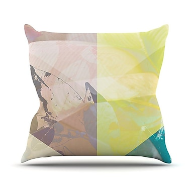 KESS InHouse Patch Garden by Gabriela Fuente Throw Pillow; 26'' H x 26'' W x 1'' D