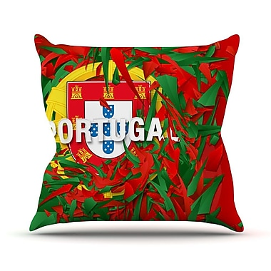 KESS InHouse Portugal by Danny Ivan World Cup Throw Pillow; 26'' H x 26'' W x 1'' D