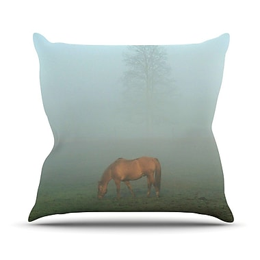 KESS InHouse Horse in Fog by Angie Turner Throw Pillow; 26'' H x 26'' W x 1'' D