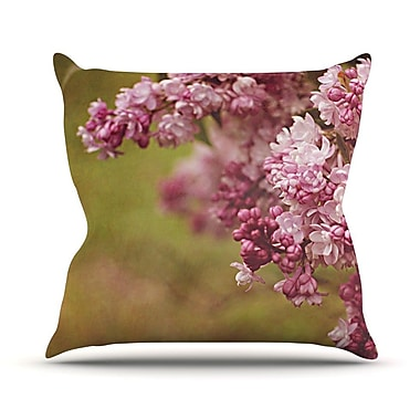 KESS InHouse Lilacs by Angie Turner Flower Throw Pillow; 16'' H x 16'' W x 1'' D