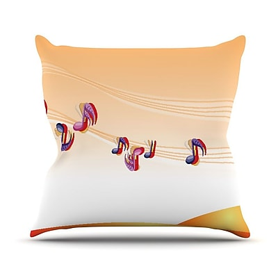 KESS InHouse Nature Music by Fotios Pavlopoulos Throw Pillow; 18'' H x 18'' W x 1'' D