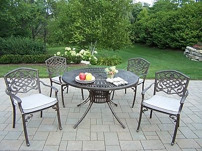 Oakland Living Sunray Mississippi 5 Piece Dining Set w/ Cushions