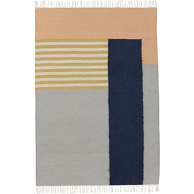 Scantrends Hand-Loomed Grey Area Rug; Runner 2'7'' x 4'7''