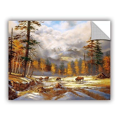 ArtWall Early Snow Showers Wall Mural; 14'' H x 18'' W x 0.1'' D