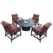Oakland Living Charleston 6 Piece Conversation Set w/ Cushions