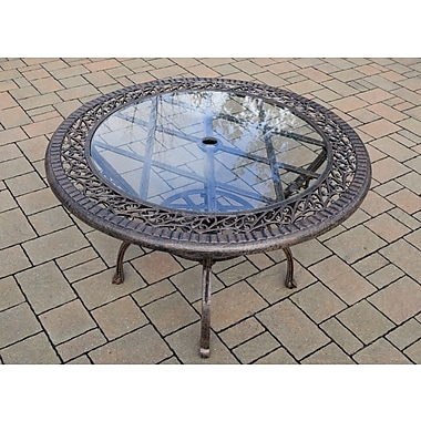 Oakland Living Patio Dining Table; Antique Bronze