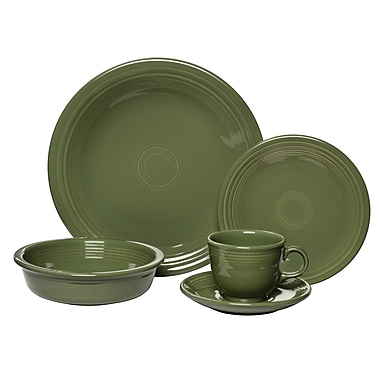 Fiesta 5 Piece Place Setting, Service for 1; Sage
