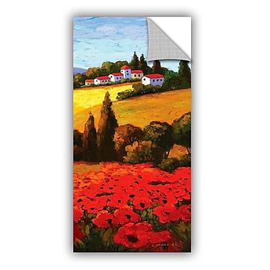 ArtWall Tuscan Poppies II Wall Mural; 24'' H x 12'' W x 0.1'' D