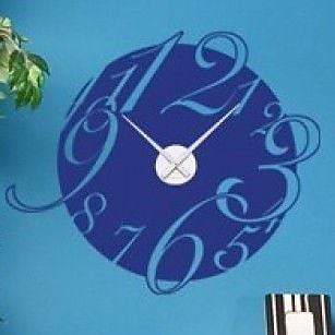 Style and Apply Big Wall Clock Wall Decal; Royal Blue