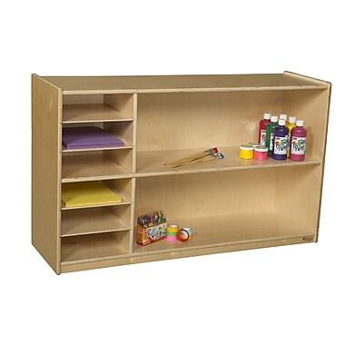 Wood Designs 8 Compartment Shelving Unit w/ Casters