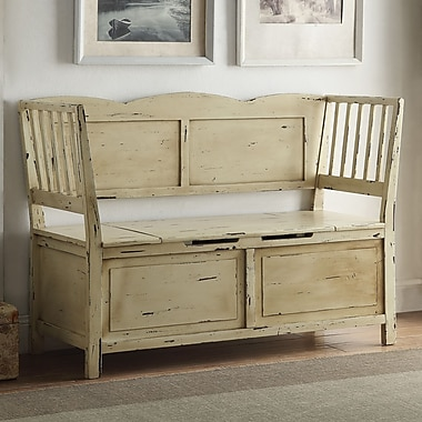 Anthony California Colonial Wood Storage Bench