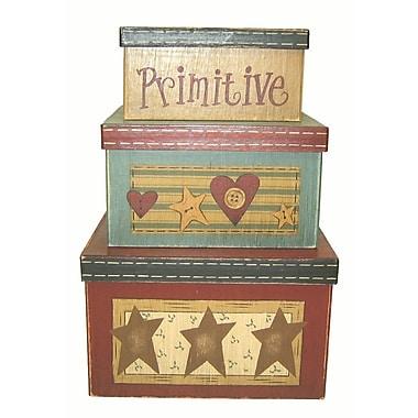 Craft Outlet Primitives 3 Piece Box Set