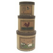 Craft Outlet Country Farm 3 Piece Box Set