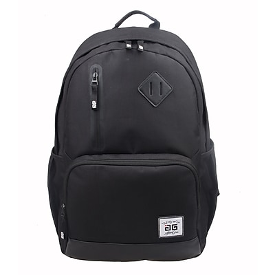 AfterGen Black Polyester Back to School Backpack (AG001-B)
