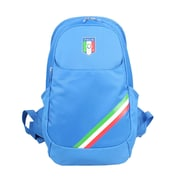 Federazione Italiana Giuoco Calcio Blue Polyester Backpack, Horizontal Stripe (FC1401-A)