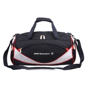 BMW Motorsports Carry On Sports Bag, Navy Blue with White/Red (BMJ-104)