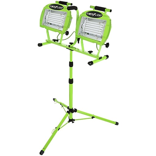 Designers Edge Portable Fluorescent Work Light: Designers Edge L2005 130-Watt Fluorescent Twin Head Tripod