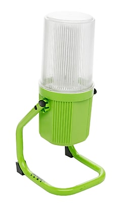 Designers Edge L2006 65-Watt Fluorescent 360-Degree Portable Work Light with Grounded Outlet, 5-Foot Cord, Green