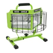 Designers Edge L5203 1000-Watt Wide Angle 160-Degree Halogen Work Light with Weatherproof Switches, 5-Foot Cord, Green