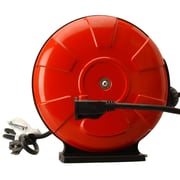 Woods 48004 14/3 SJTW 30-Foot Retractable Cord Reel with Locking Plug