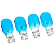 Moonrays 11693 4-Watt 12-Volt Wedge Base Replacement Light Bulb, 4-Pack, Blue Glass